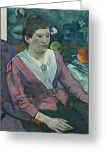 Woman In Front Of A Still Life By Cezanne Greeting Card