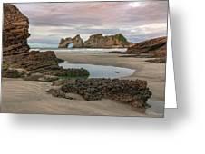Wharariki Beach - New Zealand Greeting Card