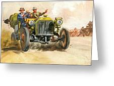 10,000 Mile Motor Race Greeting Card