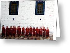 12 Monks Greeting Card