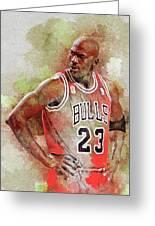 Michael Jeffrey Jordan Greeting Card
