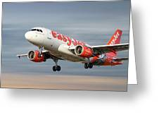 Easyjet Airbus A319-111 Greeting Card