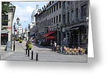 Old Montreal Greeting Card