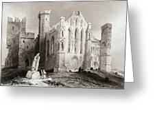 Ruins At Cashel, From The South, Connemara, County Galway, Ireland Greeting Card