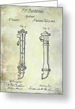 1859 Fire Hydrant Patent Greeting Card
