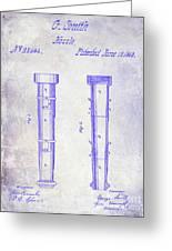 1860 Fire Hose Nozzle Patent Blueprint Greeting Card