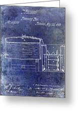 1870 Beer Preserving Patent Blue Greeting Card