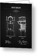 1876 Brewing Cooler - Black Blueprint Greeting Card