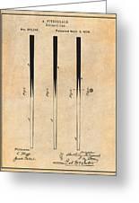1879 Billiard Cue Antique Paper Patent Print Greeting Card
