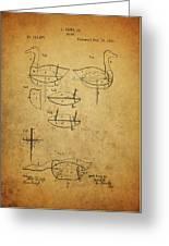 1885 Hunting Decoy Patent Greeting Card