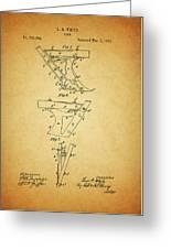 1885 Plow Patent Greeting Card