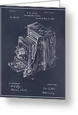 1887 Blair Photographic Camera Blackboard Patent Print Greeting Card
