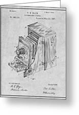 1887 Blair Photographic Camera Gray Patent Print Greeting Card