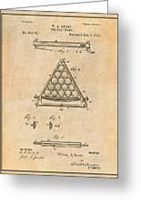 1891 Billiard Ball Rack Patent Print Antique Paper Greeting Card