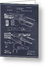 1894 Winchester Lever Action Rifle Blackboard Patent Print Greeting Card