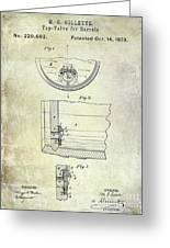 1897 Beer Barrel Tap Valve Patent  Greeting Card