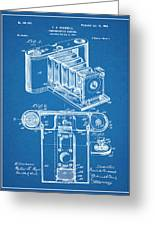 1899 Photographic Camera Patent Print Blueprint Greeting Card