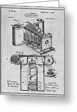 1899 Photographic Camera Patent Print Gray Greeting Card