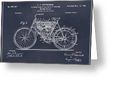 1901 Stratton Motorcycle Blackboard Patent Print Greeting Card