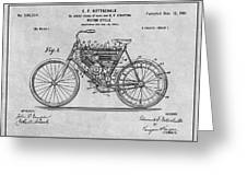 1901 Stratton Motorcycle Gray Patent Print Greeting Card