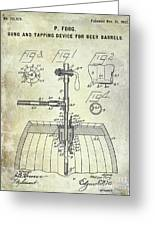 1902 Beer Tapping Device Patent Greeting Card