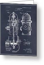 1903 Fire Hydrant Blackboard Patent Print Greeting Card
