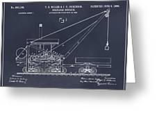 1903 Railroad Derrick Blackboard Patent Print Greeting Card