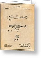 1909 Lockhart Antique Fishing Lure Antique Paper Patent Print Greeting Card