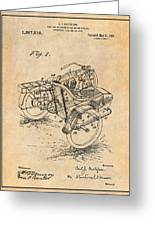 1913 Side Car Attachment For Motorcycle Antique Paper Patent Print Greeting Card