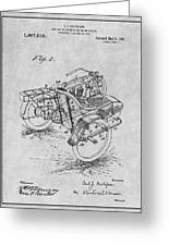 1913 Side Car Attachment For Motorcycle Gray Patent Print Greeting Card