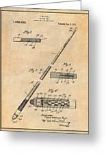 1917 Billiard Pool Cue Antique Paper Patent Print Greeting Card