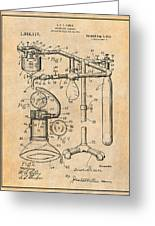 1919 Anesthetic Machine Antique Paper Patent Print Greeting Card
