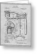 1919 Anesthetic Machine Gray Patent Print Greeting Card