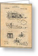 1919 Motor Driven Hair Clipper Antique Paper Patent Print Greeting Card