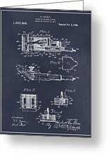 1919 Motor Driven Hair Clipper Blackboard Patent Print Greeting Card
