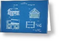 1920 Lincoln Logs Blueprint Patent Print Greeting Card