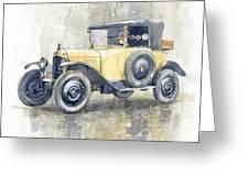 1925 Citroen 5cv Greeting Card