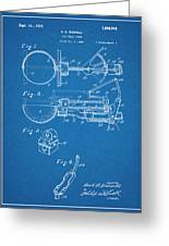 1924 Ice Cream Scoop Blueprint Patent Print Greeting Card
