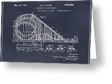 1927 Roller Coaster Blackboard Patent Print Greeting Card