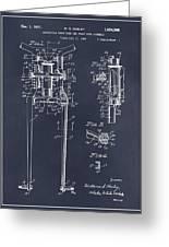 1929 Harley Davidson Front Fork Blackboard Patent Print Greeting Card