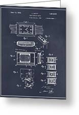 1930 Leon Hatot Self Winding Watch Patent Print Blackboard Greeting Card