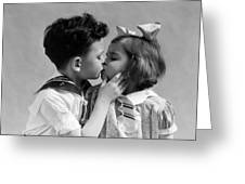 1930s Two Children Young Boy And Girl Greeting Card