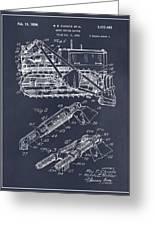 1932 Earth Moving Bulldozer Blackboard Patent Print Greeting Card