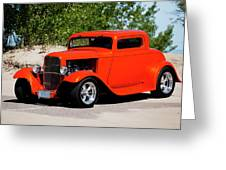 1932 Ford 3 Window Coupe  Greeting Card