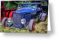 1932 Ford Highboy Hot Rod Roadster Greeting Card