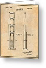 1932 San Francisco Golden Gate Bridge Antique Paper Patent Print Greeting Card
