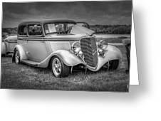 1933 Ford Tudor Sedan With Trailer Greeting Card