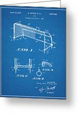 1933 Soccer Goal Blueprint Patent Print Greeting Card
