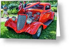 1934 Ford 3 Window Coupe Hot Rod Greeting Card