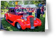 1935 Dodge Coupe Hot Rod Gasser Greeting Card
